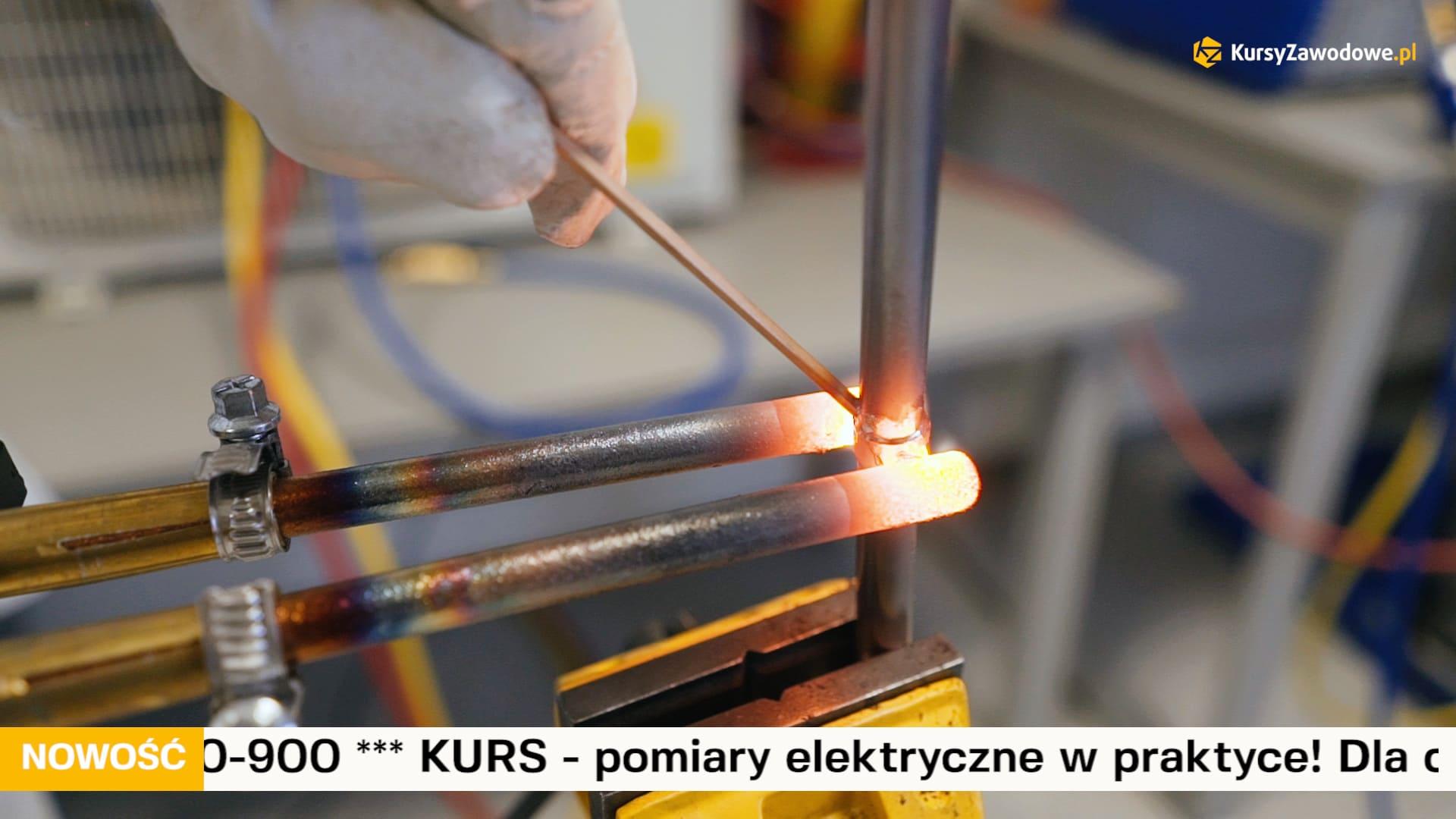 Lutowanie twarde metodą 912 dla osób zajmującym się klimatyzacją w zakresie f-gazów.